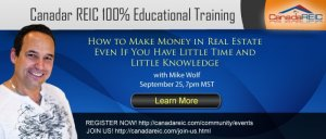 How to Make Money in Real Estate Even If You Have Little Time and Little Knowledge with Mike Wolf's Event