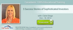 CREIC 100% Educational Training: 5 Success Stories of Sophisticated Investors with Claire Drage