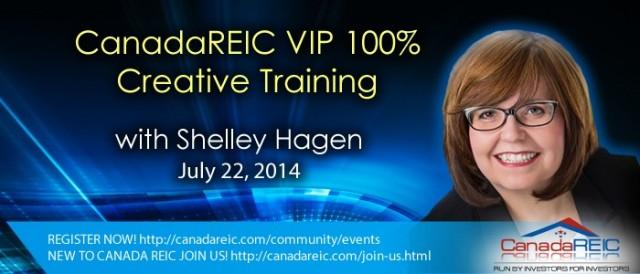 VIP 100% Creative Training with Shelley Hagen, July 22,2014