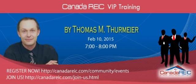 Canada REIC 100% Creative VIP Training w/ Thomas Thurmeier