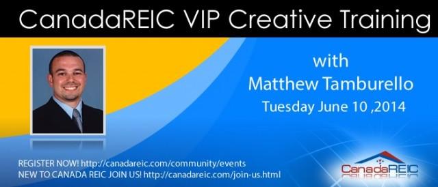 VIP 100% Creative Training with Matthew Tamburello