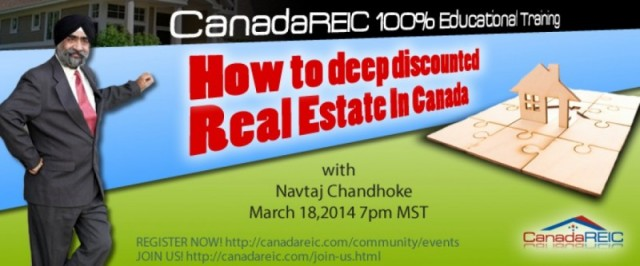How to deep discounted Real Estate In Canada w/ Navtaj Chandhoke