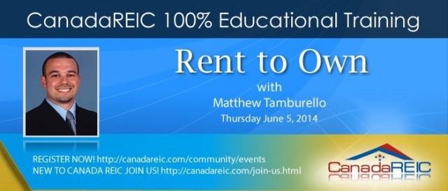 Rent To Own with Matthew Tamburello