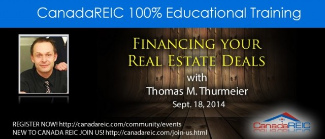 Financing your Real Estate Deals with Thomas M. Thurmeier